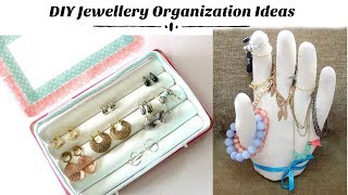 Two Easy DIY Jewellery Organization Ideas- Earring Holder box & Jewellery Holder Stand