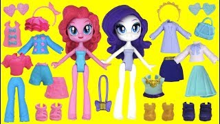 Mlp Rarity And Pinkie Pie Fashion Squad Play Mix And Match Dress Up