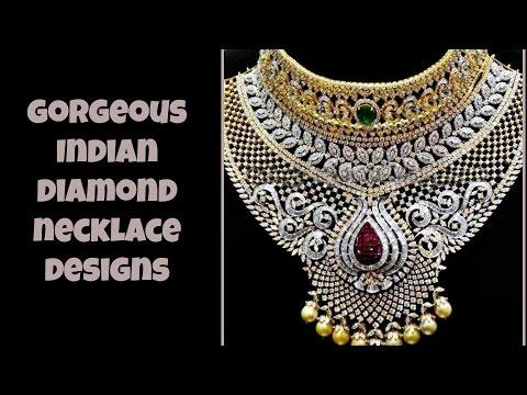 Gorgeous Indian Diamond Necklace Designs