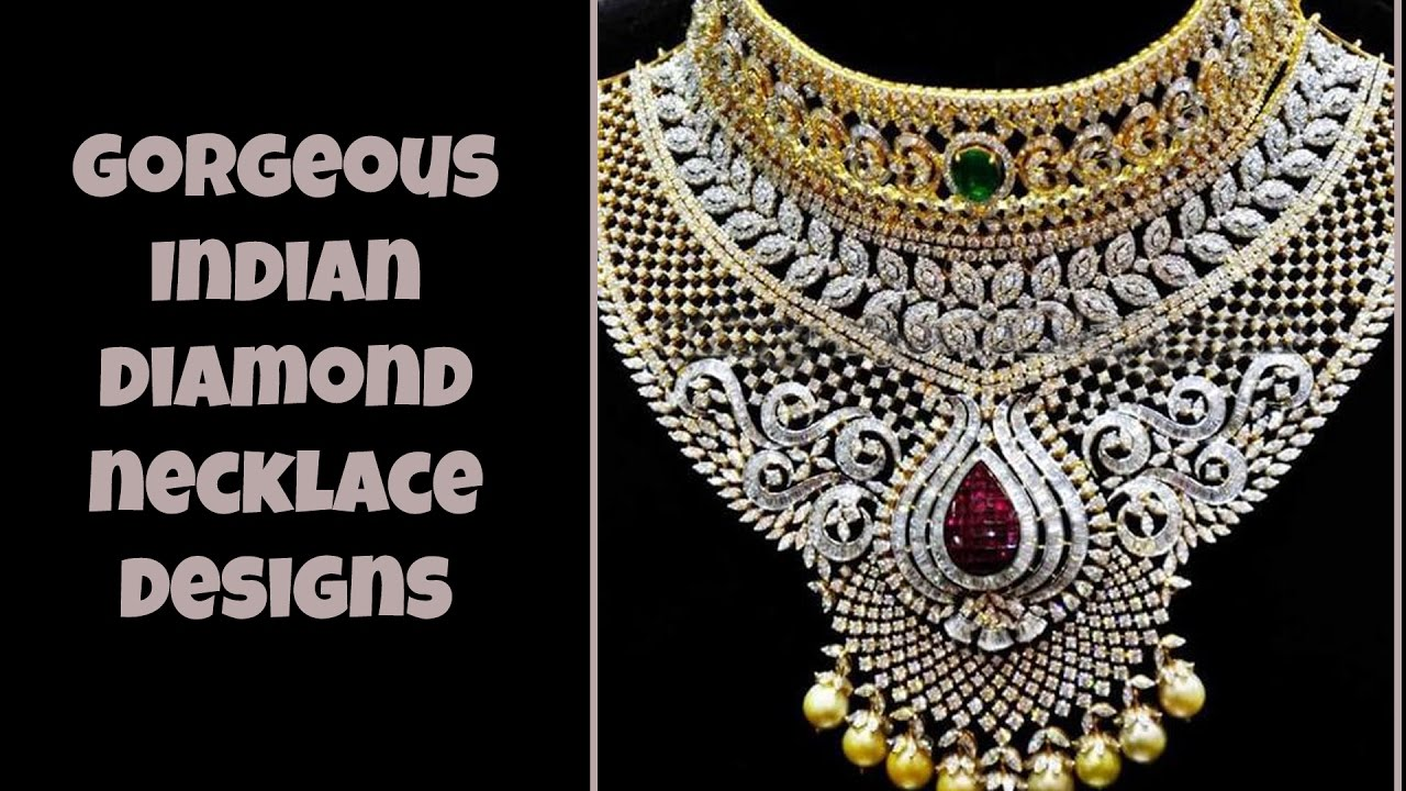 diamond indian designs necklace new latest jewellery