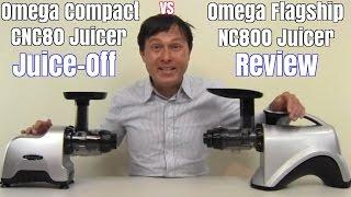 omega nc800 vs omega cnc80 compact juicer comparison review