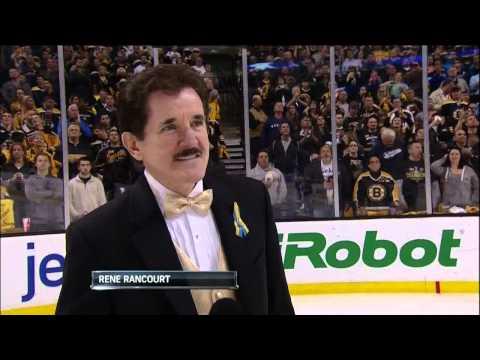 Rene Rancourt sings Star Spangled Banner. 6/7/13 Pittsburgh Penguins vs Boston Bruins NHL Hockey
