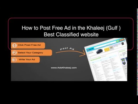 How to Post Free Ad on Gulf No1 Classified ( Ads Khaleej )