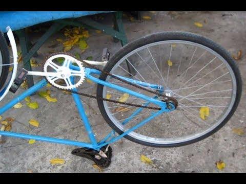 Вопрос: Как установить цепь на велосипед?