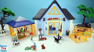 Playmobil Veterinarian Animal Clinic Playset Build and Play Toys For Kids