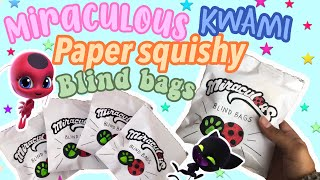 OPENING MIRACULOUS KWAMI PAPER SQUISHY BLIND BAGS!!