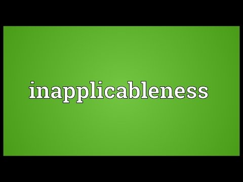 Header of inapplicableness