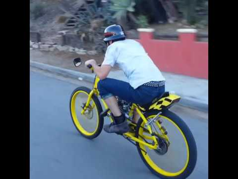 Crazy fast on a Motorized Bicycle 60 Mph !!!