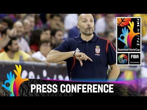 Serbia v Brazil - Post Game Press Conference - 2014 FIBA Basketball World Cup