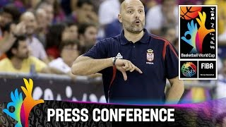 Serbia v Brazil - Post Game Press Conference - 2014 FIBA Basketball World Cup