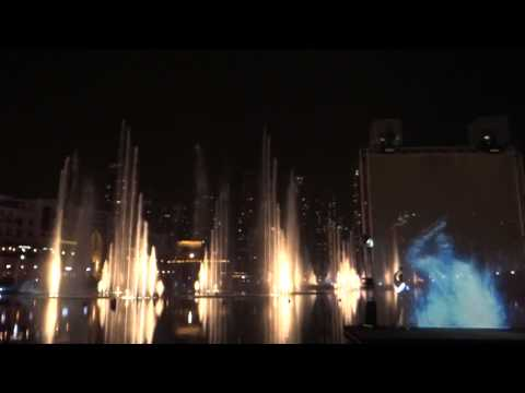 Dubai, United Arab Emirates - Dubai Mall - Water, Fire and Light Show HD (2013)