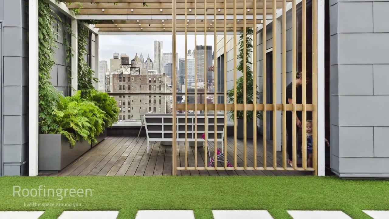 Erba sintetica a moduli per giardini, tetti verdi e terrazzi - YouTube