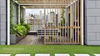 Erba sintetica a moduli per giardini, tetti verdi e terrazzi