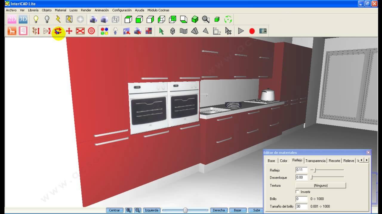 C mo hacer una cocina en 10 minutos con intericad lite doovi for Cocinas en 3d gratis