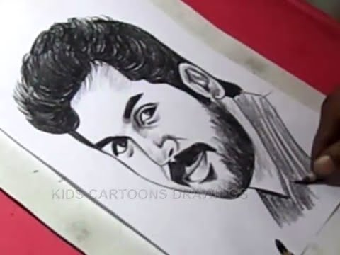 How To Draw Tamil Film Actor Karthi Drawing Youtube