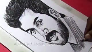 How to Draw Tamil Film Actor KARTHI Drawing For Kids