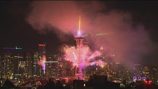 WATCH: New Year's Eve fireworks at Seattle's Space Needle