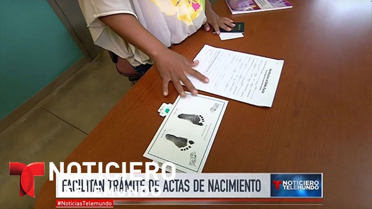 Facilitan trámites de actas de nacimiento en EEUU | Noticiero ...