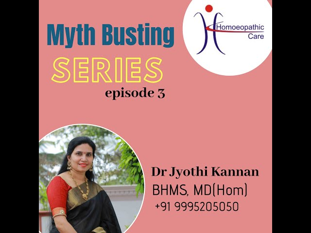 ARE ALL HOMOEOPATHIC MEDICINES THE SAME??   Myth buster series   Dr Jyothi Kannan