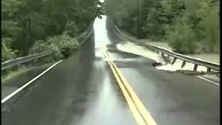 Never drive through flood water