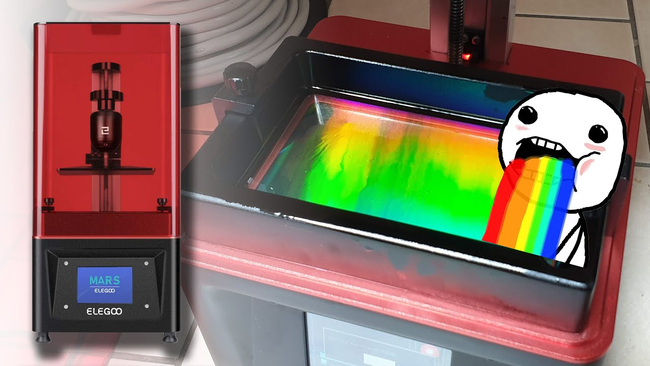 250$ MSLA / LCD 3D Printer: Elegoo Mars