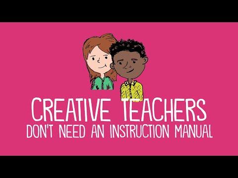 Amazing method of teaching - very creative teacher