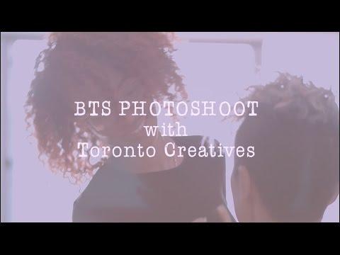 BTS Photoshoot with Toronto Creatives