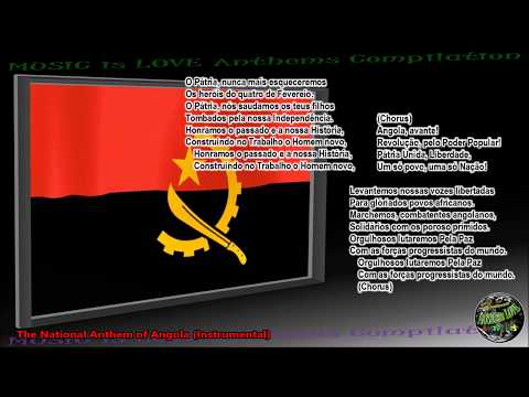 "Angola National Anthem ""Angola Avante"" INSTRUMENTAL with lyrics"