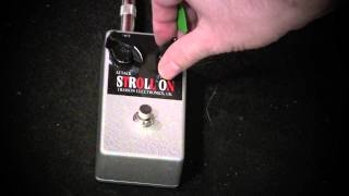 Hudson Electronics STROLL ON Mk II Professional guitar fuzz pedal demo