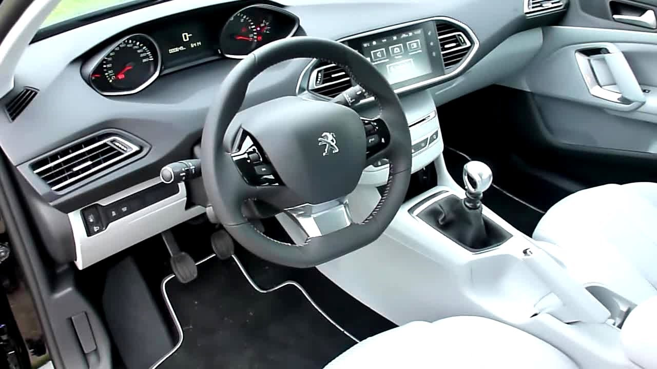 2013 all new peugeot 308 active interieur in detail youtube. Black Bedroom Furniture Sets. Home Design Ideas