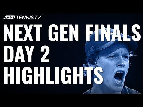 Jannik Sinner Reaches Semis; Tiafoe, De Minaur Edge Closer | Next Gen ATP Finals Day 2 Highlights