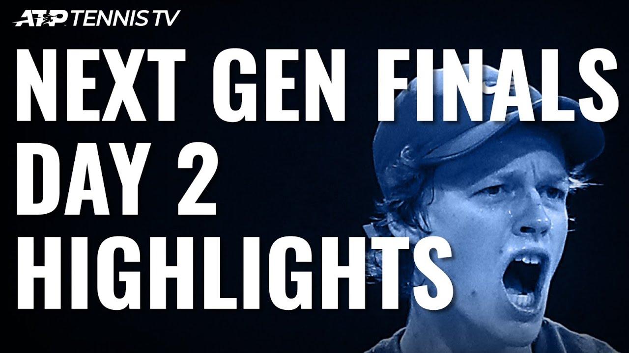 Jannik Sinner Reaches Semis; Tiafoe, De Minaur Edge Closer | Next Gen ATP Finals Day 2 Highlights