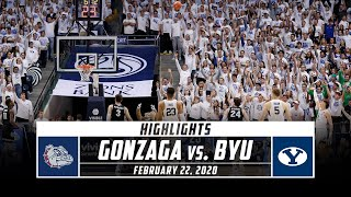 No. 2 Gonzaga vs. No. 23 BYU Basketball Highlights | Stadium