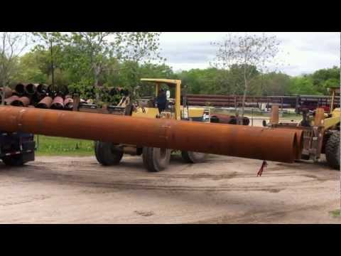 Shipping 147' pipe piles