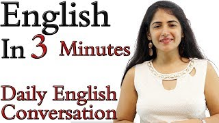 Spoken English Learning Video - English Speaking Practice