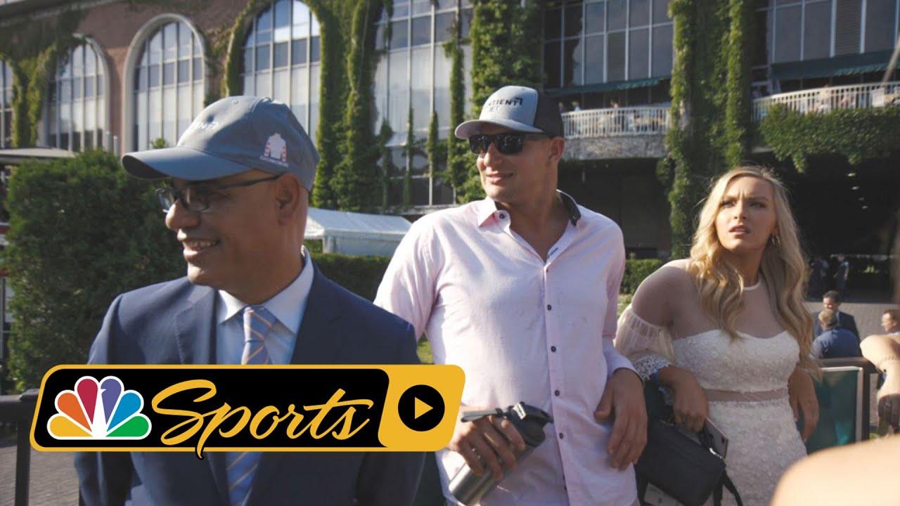 Rob Gronkowski's Belmont Stakes Experience I NBC Sports