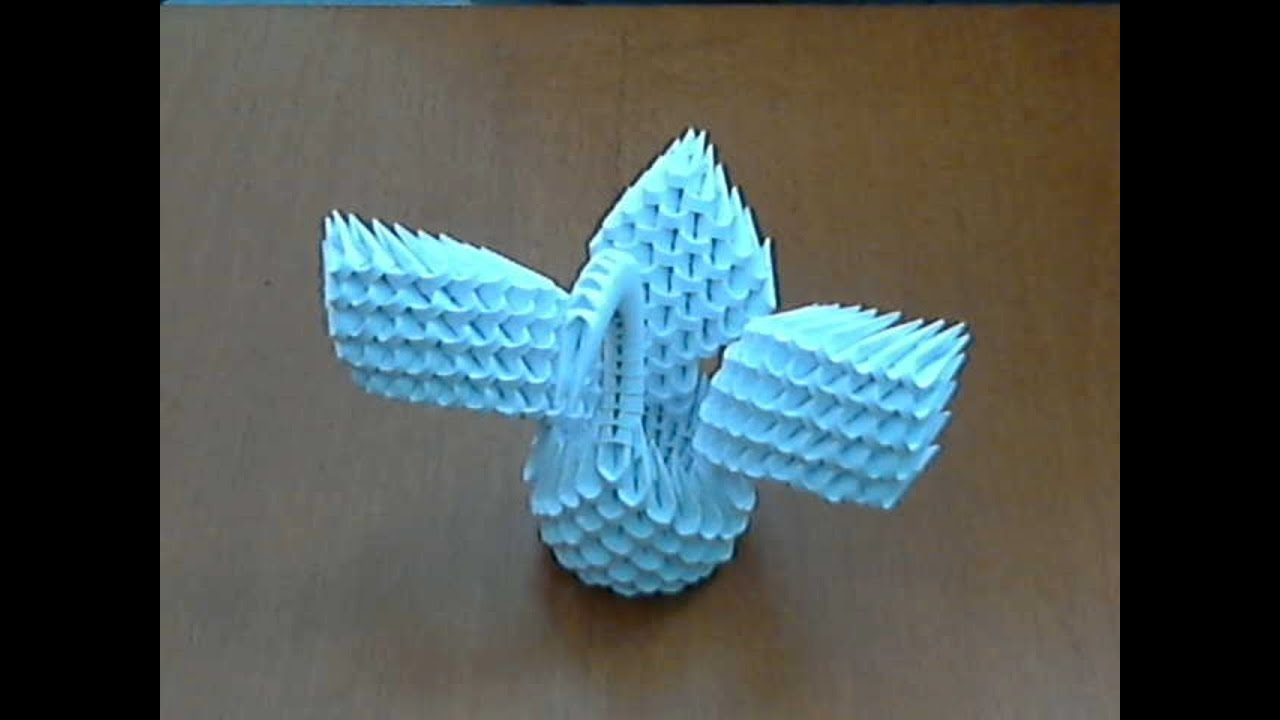 How to make 3d origami small swan (model 3) - YouTube - photo#22