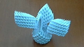 How To Make 3d Origami Small Swan  (model 3)