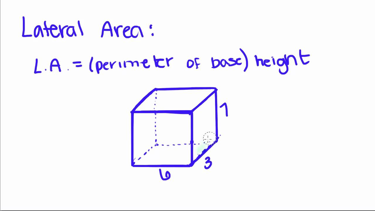 Geometry  17  Prisms  Volume, Lateral Area, And Total Area