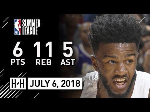Jordan Bell Full Highlights vs Clippers (2018.07.06) NBA Summer League - 6 Pts, 11 Reb, 5 Ast