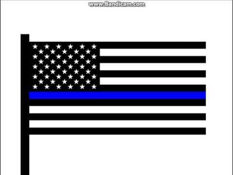The Thin Blue Line Flag