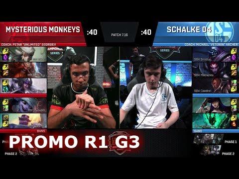 Mysterious Monkeys vs FC Schalke 04 | Game 3 Promotion/Relegation S8 EU LCS Spring 2017 | MM vs S04