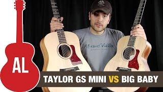 GS Mini vs Big Baby Taylor Guitar Comparison