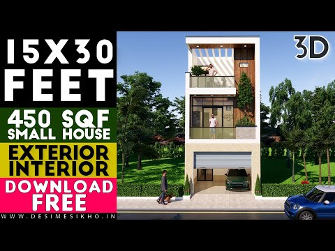 15x30 Feet Small House Design || Small Space House || Plan-4