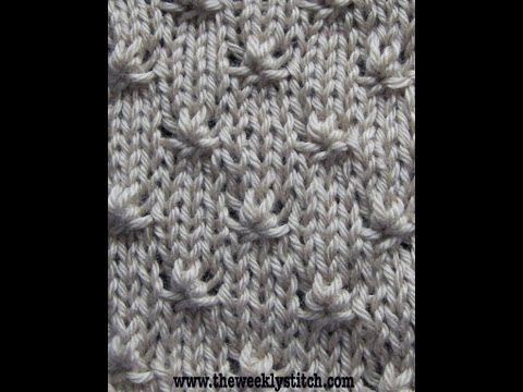 Flat Knot Knitting Stitch : Telescope Lattice FunnyCat.TV