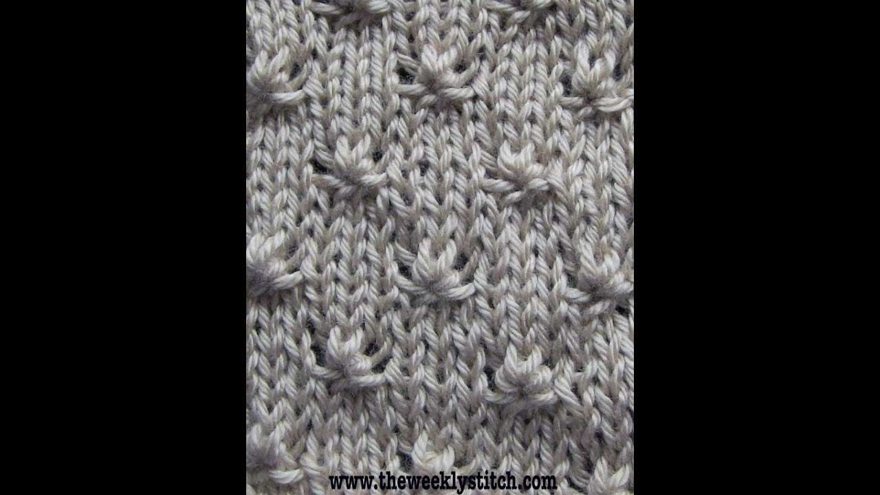 Knitting Starting Knot : Knot stitch youtube