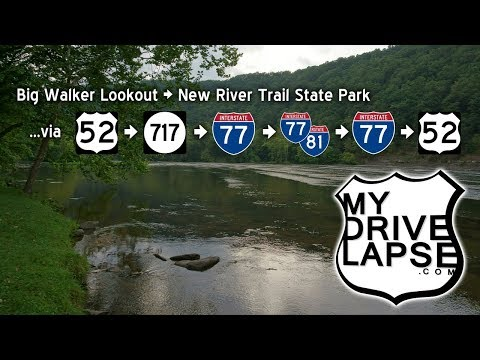 Down Big Walker Mountain, I-77 & 81, to the New River Trail