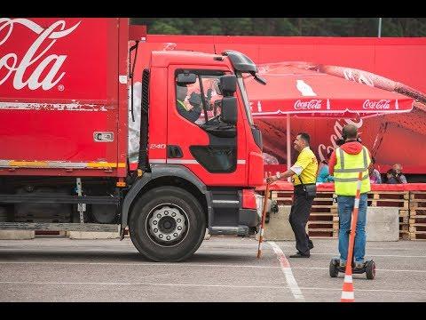 Чемпионат мастерства среди водителей фур и погрузчиков Coca-Cola.