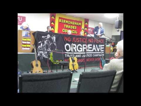 Birmingham Trades Council 150 Anniversary Paul Mackney ex-President speaking