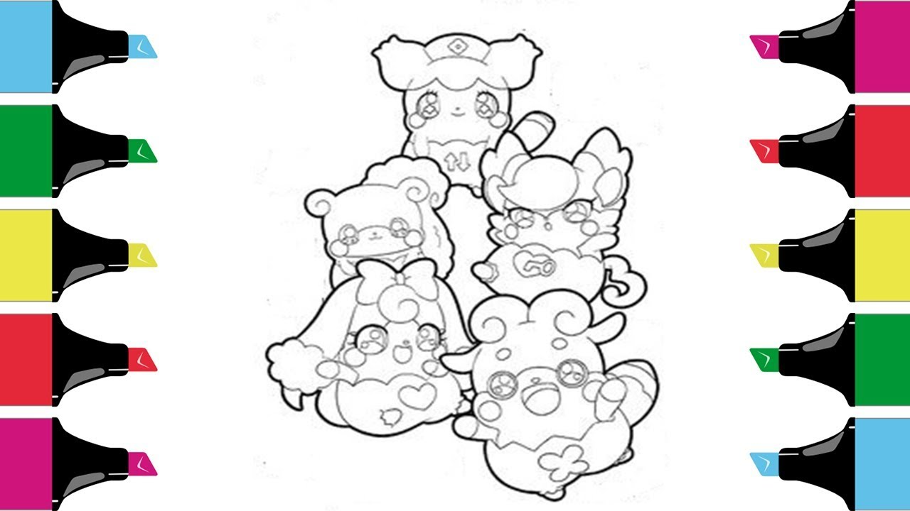 Cocotama Coloring Pages Learn Colors Coloring For Kids